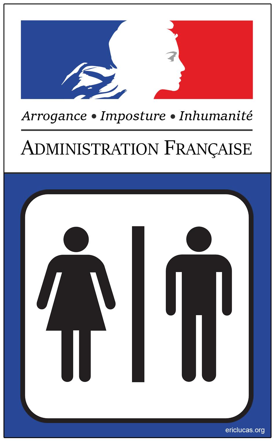 Logo des usurpateurs, tortionnaires, saleté d'Administration française