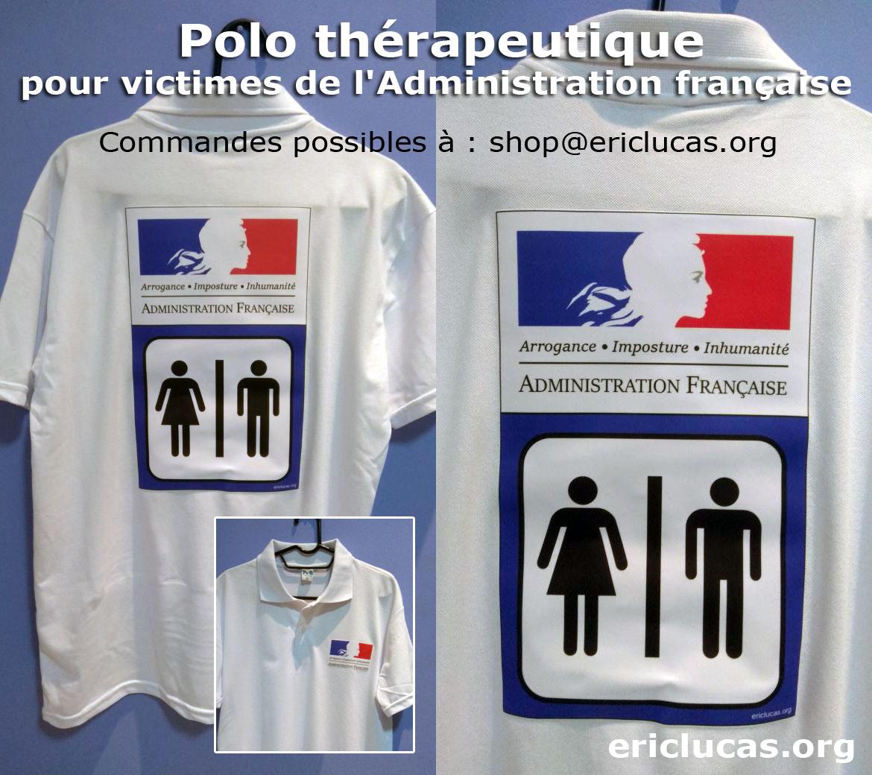 Polo thérapeutique pour victimes de l'Administration française - Commandes possibles à shop(@)ericlucas.org