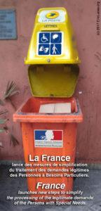La France lance des mesures de simplification du traitement des demandes légitimes des Personnes à Besoins Particuliers.